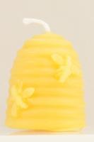 Bienenkorb-Kerze aus Bienenwachs
